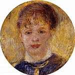 Womans Head - 1877, Pierre-Auguste Renoir