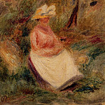 Young Girl in the Woods - 1910, Pierre-Auguste Renoir