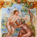 Study for - The Saone Embraced by the Rhone - 1915, Pierre-Auguste Renoir