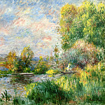 The Seine at Bougival - 1879, Pierre-Auguste Renoir