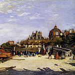 The Pont des Arts and the Institut de France - 1867, Pierre-Auguste Renoir