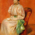 Seated Woman with Green Sash, Pierre-Auguste Renoir