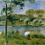 Landscape. Banks of the River, Pierre-Auguste Renoir