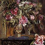 Vase of Flowers - 1871, Pierre-Auguste Renoir