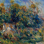 The Painter Taking a Stroll at Cagnes, Pierre-Auguste Renoir