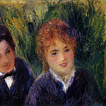 Young Man and Young Woman - 1876, Pierre-Auguste Renoir