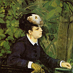 Pierre-Auguste Renoir - Woman in a Garden (also known as Woman with a Seagull) - 1868