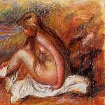 Bather Seated by the Sea, Pierre-Auguste Renoir
