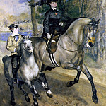 Riding in the Bois de Boulogne - 1873, Pierre-Auguste Renoir