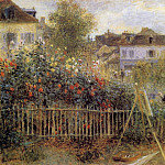 Claude Monet Painting in His Garden at Argenteuil - 1873, Pierre-Auguste Renoir