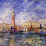 The Doges Palace, Venice - 1881, Pierre-Auguste Renoir