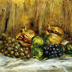 Still Life with Grapes, Pierre-Auguste Renoir