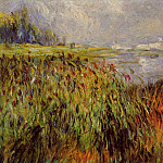 Bulrushes on the Banks of the Seine - 1874, Pierre-Auguste Renoir