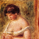 Woman with a Corset - 1914, Pierre-Auguste Renoir