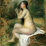 Seated Bather, Pierre-Auguste Renoir
