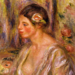 Пьер Огюст Ренуар - Madeline wearing a Rose - 1916