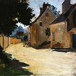 Village Street, Louveciennes – 1871 – 1872, Пьер Огюст Ренуар