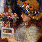 Young Girl Reading - 1886, Pierre-Auguste Renoir