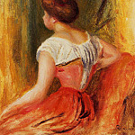 Seated Young Woman - 1896, Pierre-Auguste Renoir