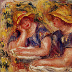 Two Women in Blue Blouses - 1919, Pierre-Auguste Renoir