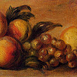 Still Life with Peaches and Grapes, Pierre-Auguste Renoir