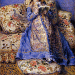 Camille Monet Reading - 1872, Pierre-Auguste Renoir