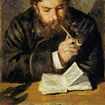 Pierre-Auguste Renoir - Claude Monet (also known as The Reader) - 1873-1874