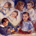 Studies of the Children of Paul Berard - 1881, Pierre-Auguste Renoir