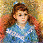 Portrait of a Young Girl - 1879, Pierre-Auguste Renoir