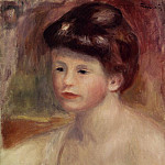 Bust of a Young Woman - 1904, Pierre-Auguste Renoir