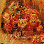 Пьер Огюст Ренуар - Roses in a Vase - 1911-1912