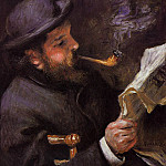 Claude Monet Reading - 1872, Pierre-Auguste Renoir