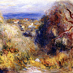 View of Cannet - 1898, Pierre-Auguste Renoir