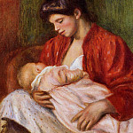 Young Mother – 1898 , Pierre-Auguste Renoir