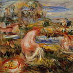 Пьер Огюст Ренуар - Two Bathers in a Landscape - 1919