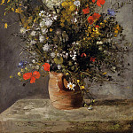 Пьер Огюст Ренуар - Flowers in a Vase - 1866