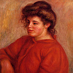 Woman in a Red Blouse - 1908, Pierre-Auguste Renoir