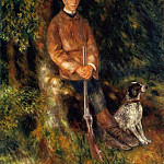 Alfred Berard and His Dog - 1881, Pierre-Auguste Renoir