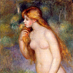 Standing Bather - 1896, Pierre-Auguste Renoir