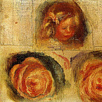 Coco and Roses , Pierre-Auguste Renoir