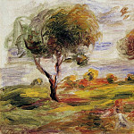 Landscape with Figures at Cagnes - 1916, Pierre-Auguste Renoir