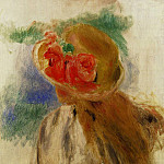Young Girl in a Flowered Hat, Pierre-Auguste Renoir