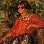 Gabrielle in the Garden at Cagnes - 1911, Pierre-Auguste Renoir