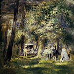 In St Cloud Park - 1866, Pierre-Auguste Renoir