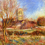 The Church at Essoyes, Pierre-Auguste Renoir