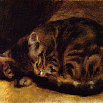 Sleeping Cat - 1862, Pierre-Auguste Renoir