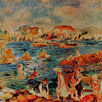 Pierre-Auguste Renoir - The Beach at Guernsey - 1882- 1883
