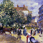 Place de la Trinite, Paris - 1875, Pierre-Auguste Renoir