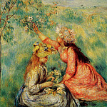 In the Fields – 1890, Pierre-Auguste Renoir