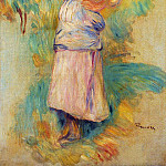 Young Peasant Eating an Apple – 1894 , Pierre-Auguste Renoir